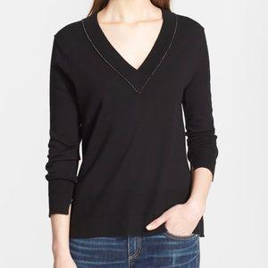 Rag & Bone Leanna V-Neck Merino Wool Sweater